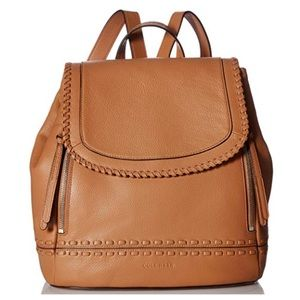 Cole Haan Brynn Leather Backpack Purse In Pecan
